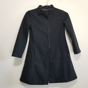 Crazy 8 black pea coat with bow on neck